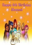 Personalised Winx Club Birthday Card (2)